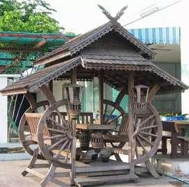 Gazebo antik gazebo kayu jati