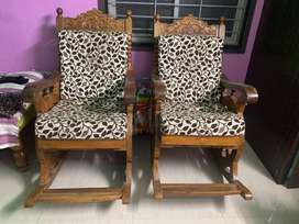 Teak Wood Rocking Chairs for Sale