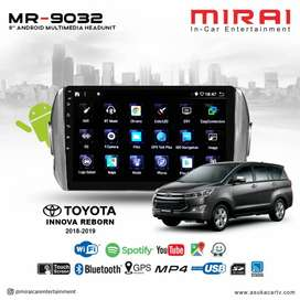 Headunit Android MIRAI MR9032 OEM All New Innova Reborn Include Instal