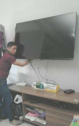 jual pasang bracket tv led lcd untuk gantungan penyangga di tembok