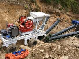 jual stone crusher mobile kap 10-15TPH