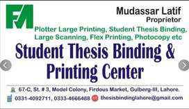 Student Thesis Binding &  Plotter Printing, Large Scanning & Photocopy
