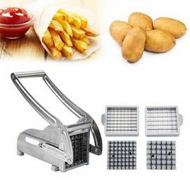 New French Fry Cutter with 2 Blades Stainless Steel Potato Slicer