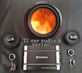 Wao paket audio komplit speaker pintu subwoofer embassy di t2 gresik