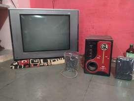 Colour TV & Buffer speaker