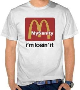 T-Shirt Distro Parodi Logo McDonald - Losing MySanity