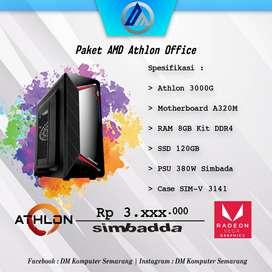 PC Rakitan Office Athlon 3000G RAM 8GB DDR4 SSD 120GB Ready