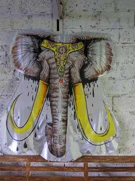 Layangan celepok lukis gajah
