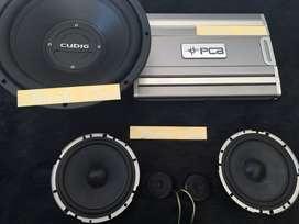 Audio mobil ( subwoofer cubig LA , power PCA ,split trans ) ^_^