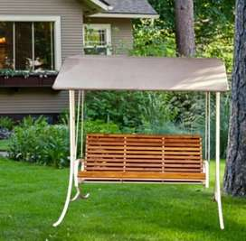 3 seater outdoor swing with powder coated