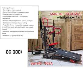 Treadmill Manual 6 in 1 Versi Red Black //(Jual Sepeda Statis & Home G