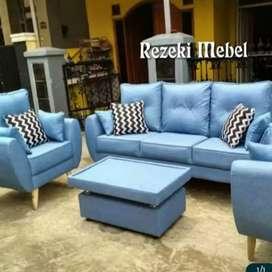 Rezeki Mebel_ sofa VINTAGE 1set lengkap meja