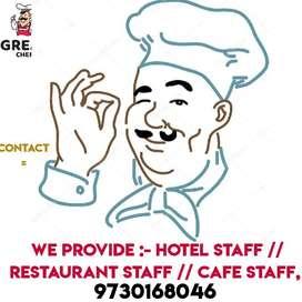 We Provide Hotel STAFF & Restaurant Staff & Fast Food Café Staff-*