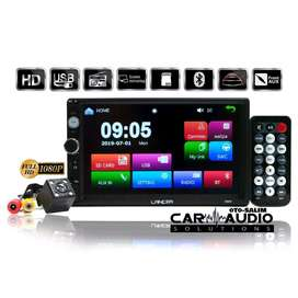 Paket Double Din TV Mobil Lancer MP4 Flac plus Kamera Mumdur