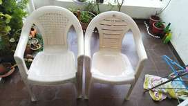 Plastic Chairs 2 nos get only in 600 at Aeropolis 2, Dhanori