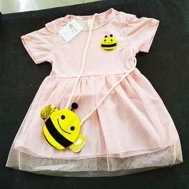Dress baby impor umur 5 bln - 3 th
