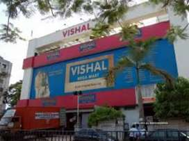 Hiring in Vishal mega Mart for fresher graduate passed candidate