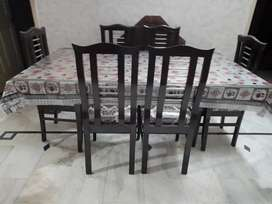 Dinning Table with 6 chairs sheesham wood