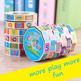 Mainan Puzzle Model Putar Simbol Angka untuk Edukasi Education Anak