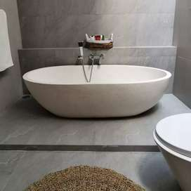 Bathtub Mega Bendung Mewah Minimalis I Terrazzo