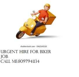 Urgent Vacancy for Biker job/Delivery/Bike Taxi job