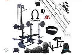 Hashtag 20 In 1 bench with 60 kg rubber plate weight