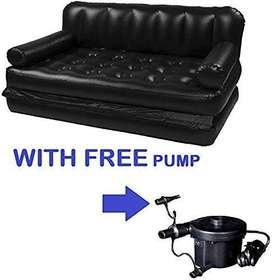 5 in 1 Air Sofa Cum Bed with Pump Lounge Couch Mattress Inflatable (3