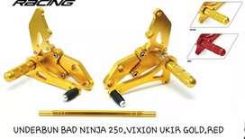 Underbun racing cnc ninja 250 emas dan merah barang baru