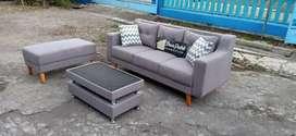 Sofa 3dudukan puff