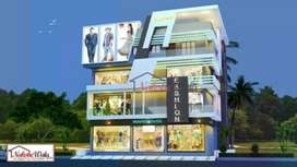 Shops and office are available in this towar for sell