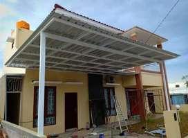 @52 canopy minimalis rangka tunggal atap alderon rs bikin nyaman
