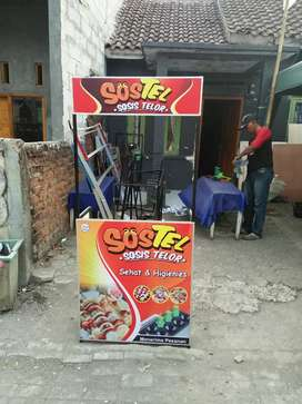 Booth portable,  meja stand medium