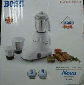 """BOOS""mixer Grinder new, two years warranty,500watt"