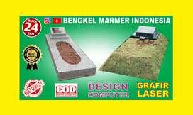 Batu Nisan Murah TPU Jeruk Purut Model Minimalis Berkualitas Marmer OK