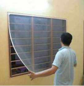 Mosquito net per square feet 35/-With fitting