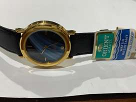 RARE EYE CATCHING ORIENT GOLD PLATED 1980's WATCH,NEW OLD STOCK