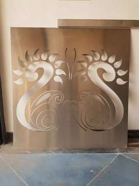 Stainless steel gate or interior show piece
