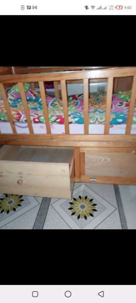 Slightly used baby cott with mattress in good condition