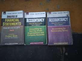 Set of 3 Accountancy books for Class-12th.Author - Dk Goel