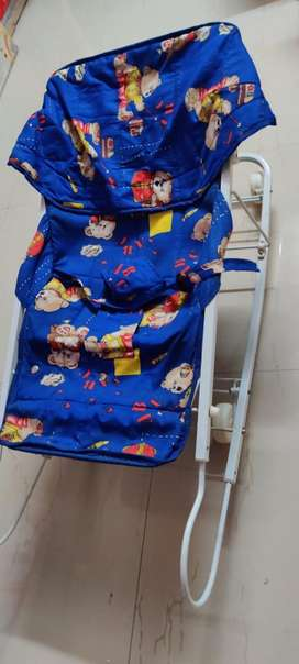 Rarely used Kids walker, multi purpose chair and baby sleeping bag
