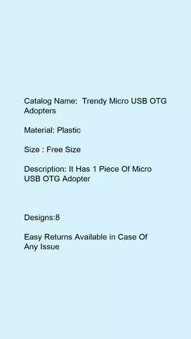 Trendy Micro USB OTG Adopters, cash on delivery