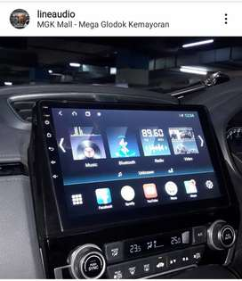 Head unit android CRV turbo 9 inch tidak nutup ac