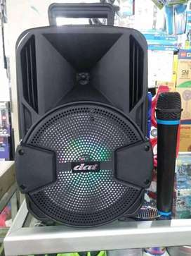 PROMO. PORTABEL SPIKER SALON AKTIF BLUETOOTH KARAOKE DAT 8 IN.