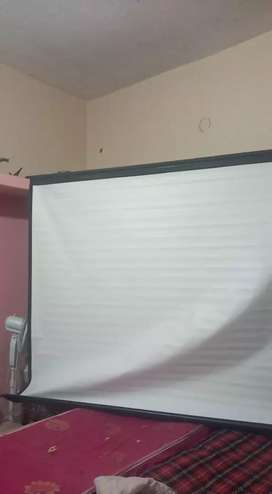 Projector screen wall mount