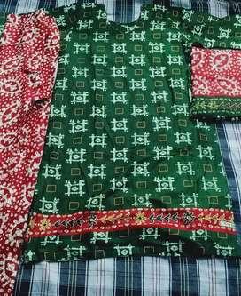 Stitched cotton dress