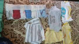 Baby Short Sleeve Body suits and shorts and shirts
