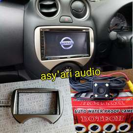 Plung end play nissan march 2din tv + frame kamera (asy'ari audio)