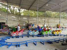 wahana mainan Odong odong EK kereta mini roller coaster koin fiber LED