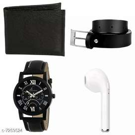 Watch With Rechargable Earbud , Belt and Wallet / Pack Of 5