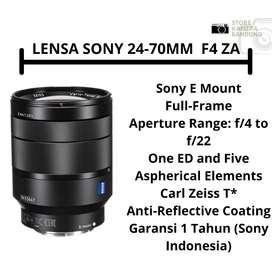 READY LENSA SONY 24-70MM F4 ZA !!! GARANSI RESMI SONY INDO